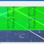 Solar Panel control software showing data gathered from the panels
