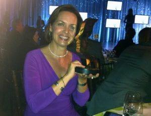 Dawna Friesen with Gemini Award