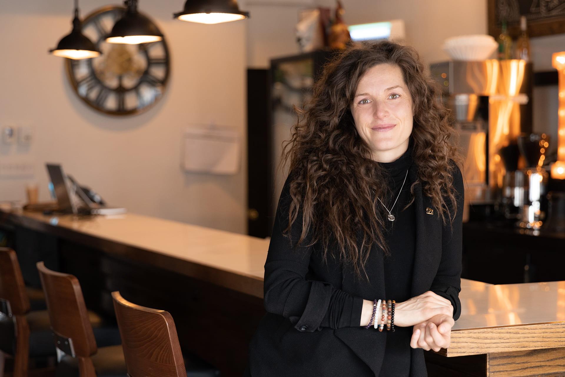 RRC grad Laneil Smith at her restaurant Marion Street Eatery