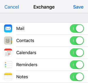 turn on or off your email options then tap save