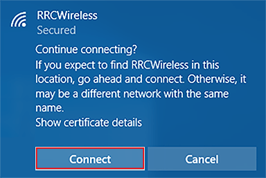 trust or connect button