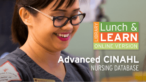 Library Lunch and Learn - Advanced CINAHL image