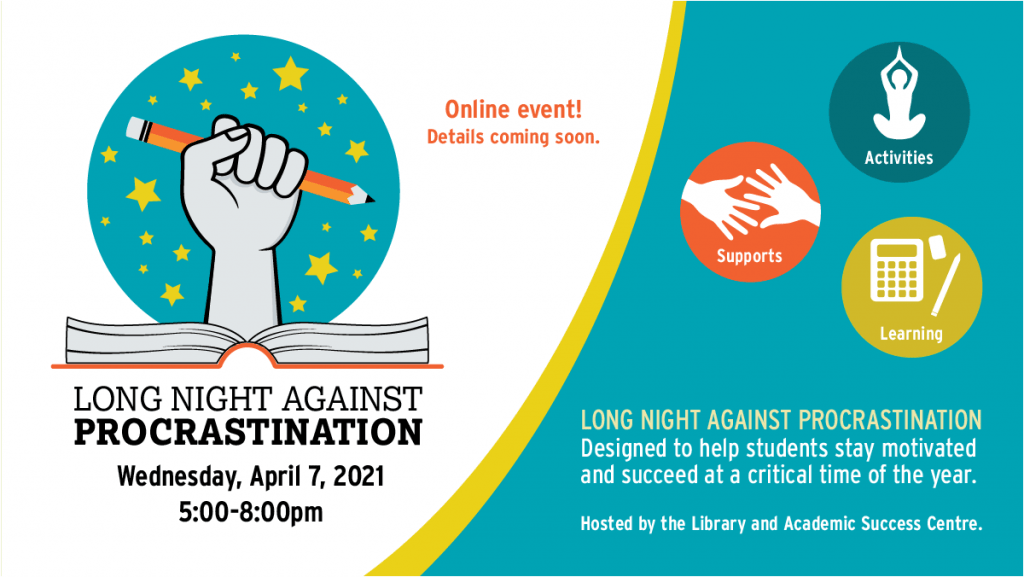 Long Night Against Procrastination logo and graphic