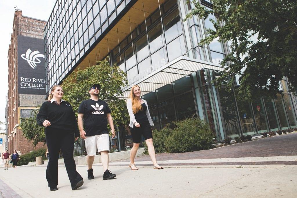 RRC students with Safewalk escort
