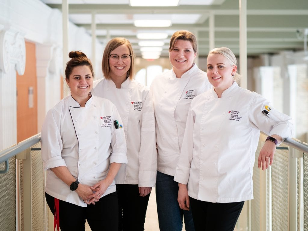 RRC instructors Chantalle Noschese, Kimberly Cooke, Lylah Erkau and Melissa Hyrb