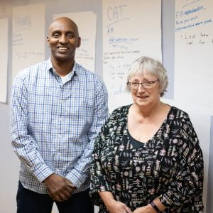 Susan Morgan and Amanuel Embaye, Equal Opportunities West