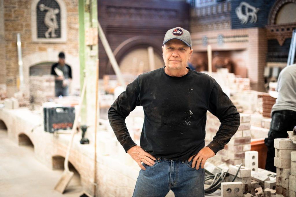 Brian Gebhardt, masonry lab, Red River College