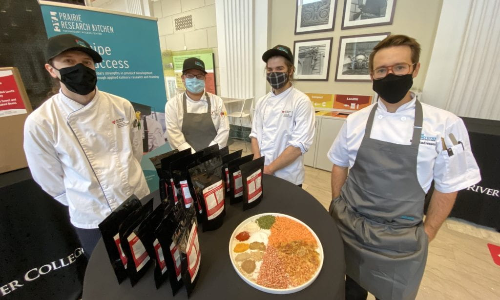 Culinary researchers with soup mixes