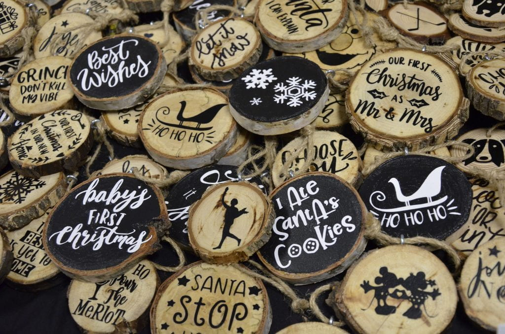 Handcrafted holiday ornaments