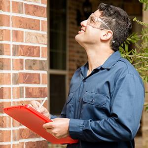 Energy Advisor inspecting a home