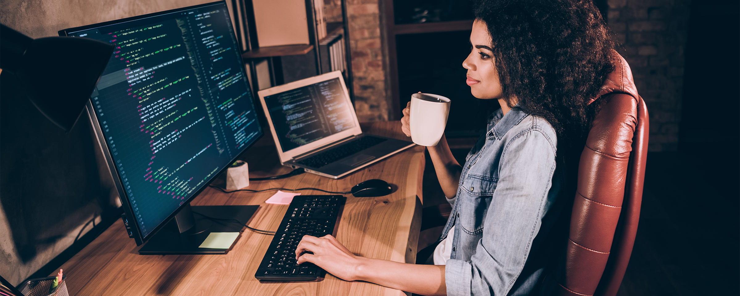 Full Stack Web Developer on the job
