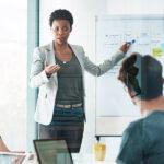 Woman leading custom training for organizations