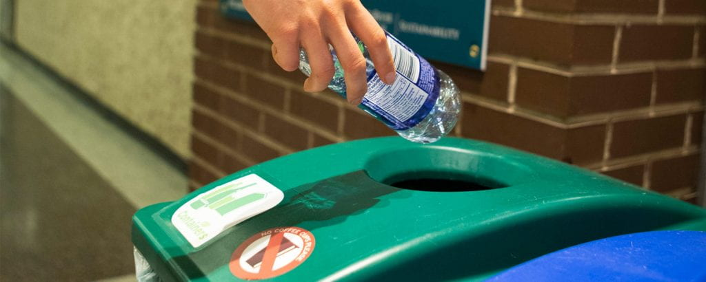 Recycling a water bottle