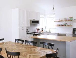 Well-lit kitchen