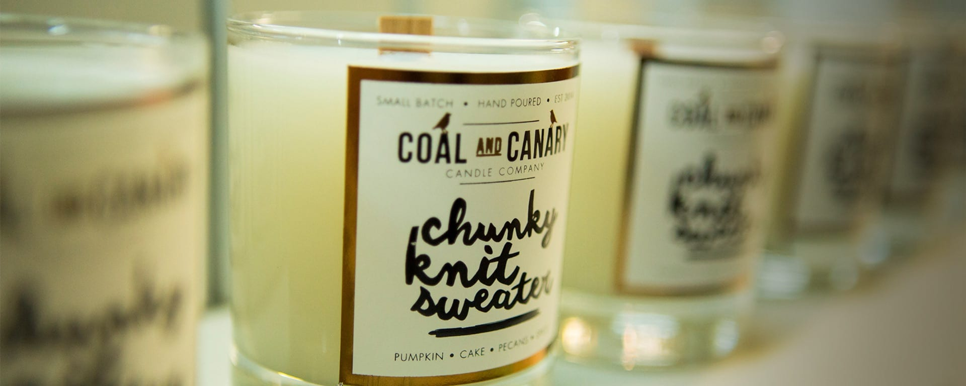 Coal and Canary candles