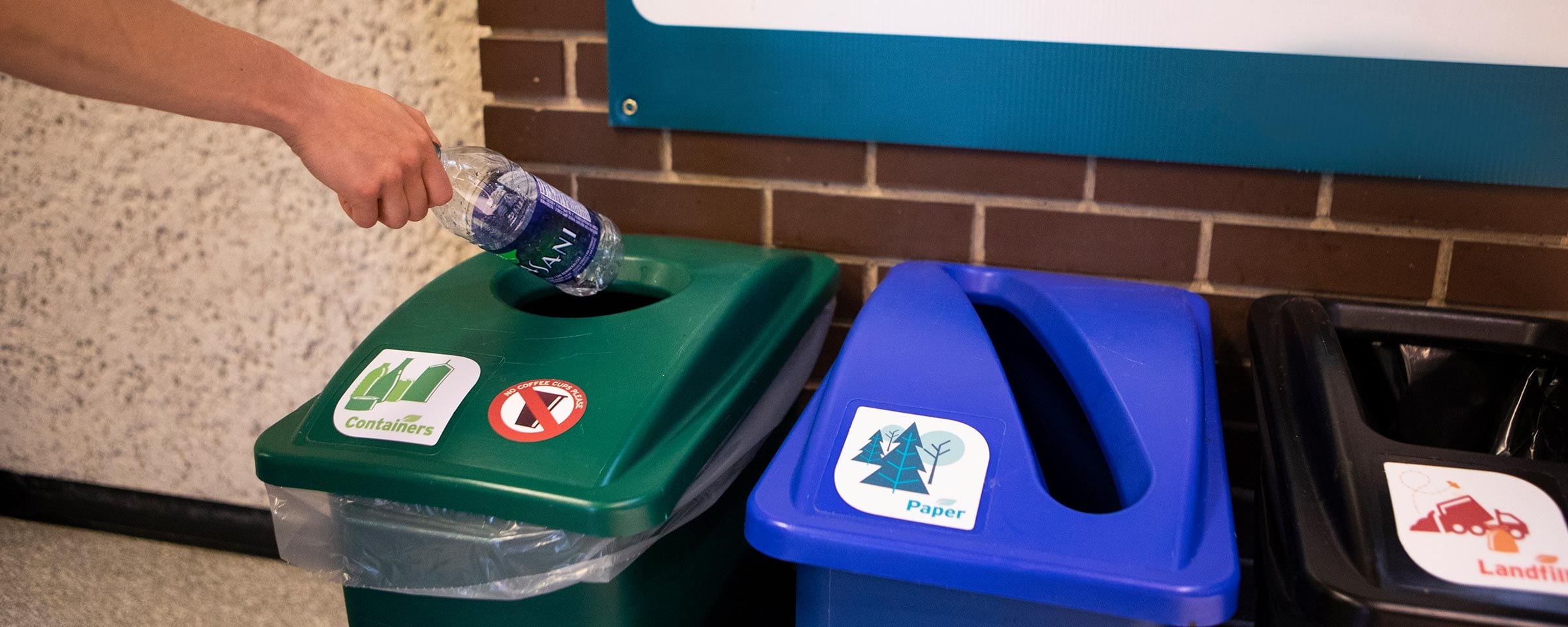 Recycling bins, Red River College