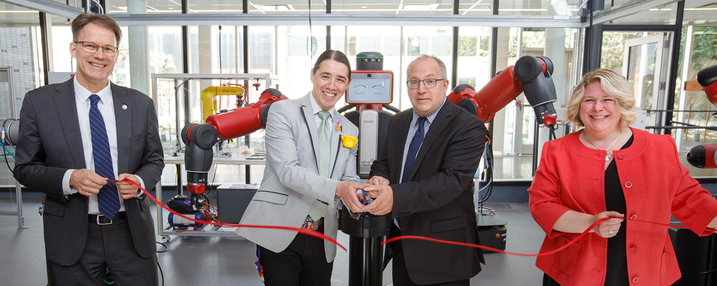 Smart Factory ribbon cutting, Red River College