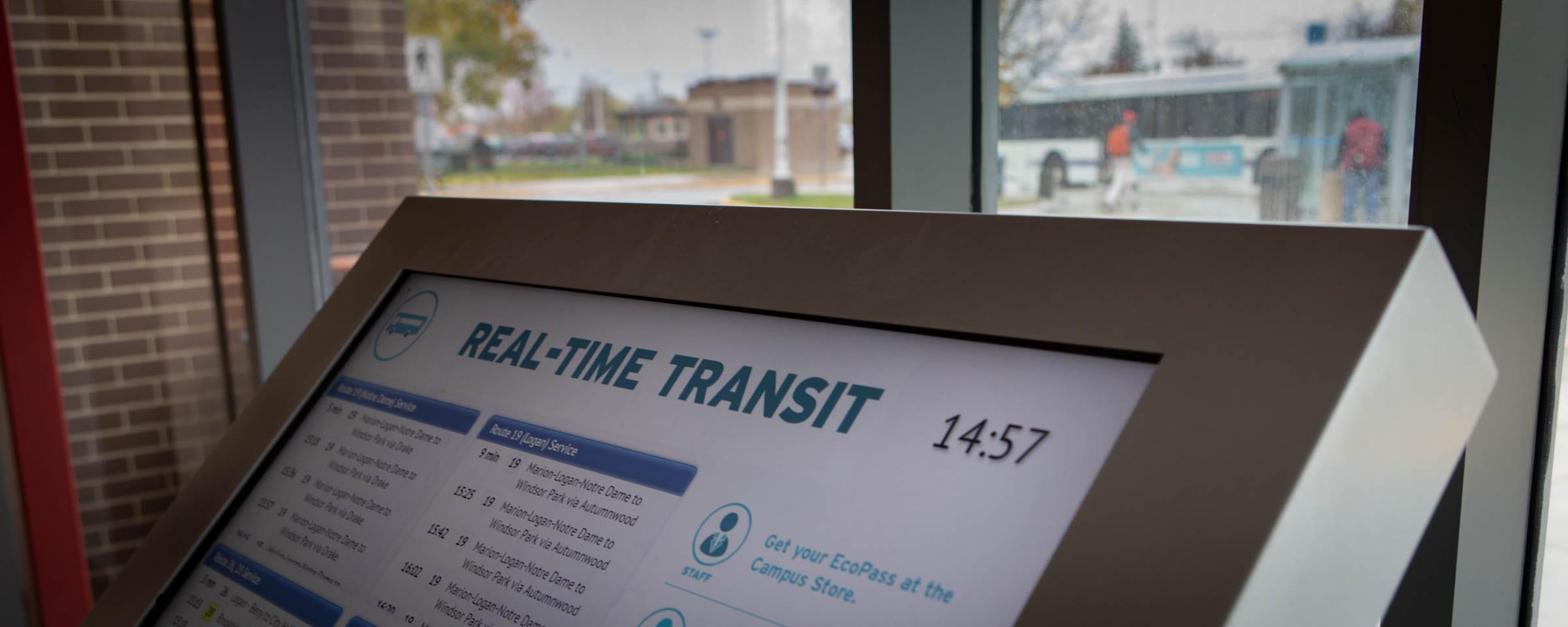 Digital transit kiosk, Red River College