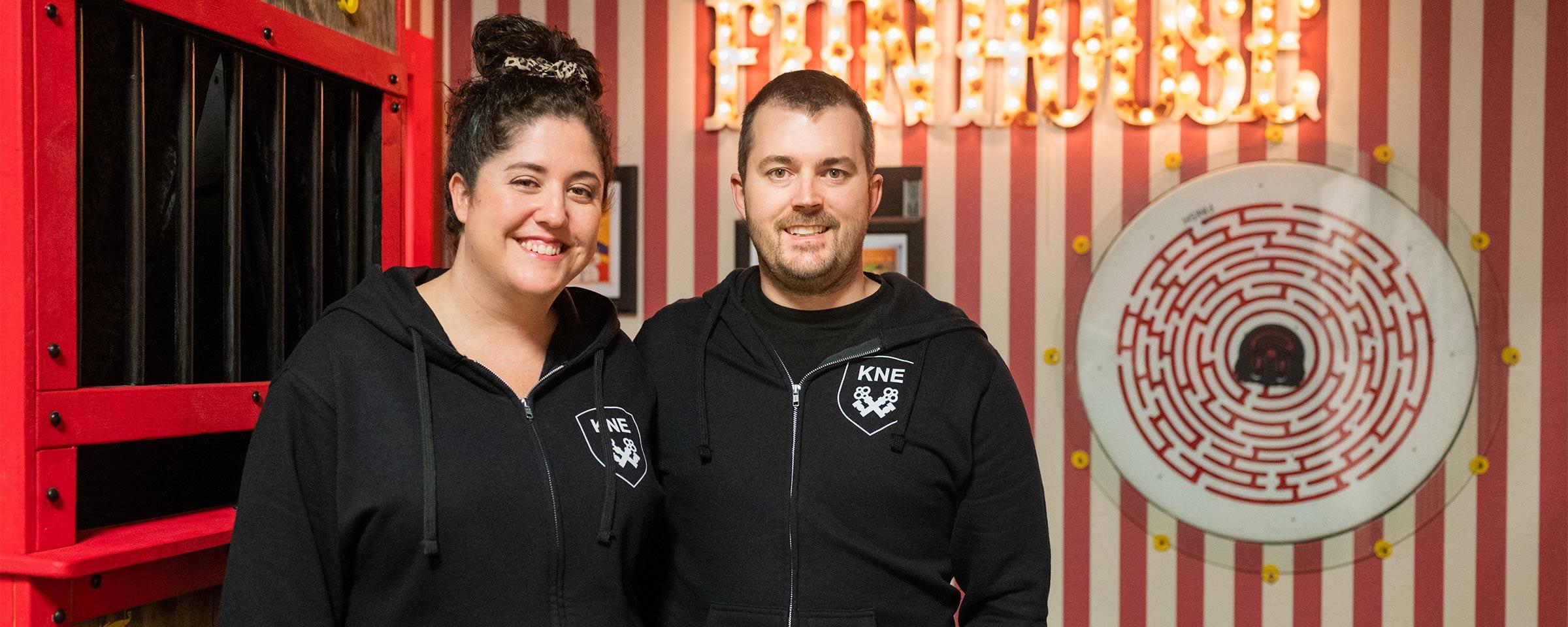 RRC grads Lisa Bernstein and Chris McMillan, Killer Noob Escapes