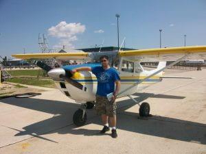 Tim San Diego with plane
