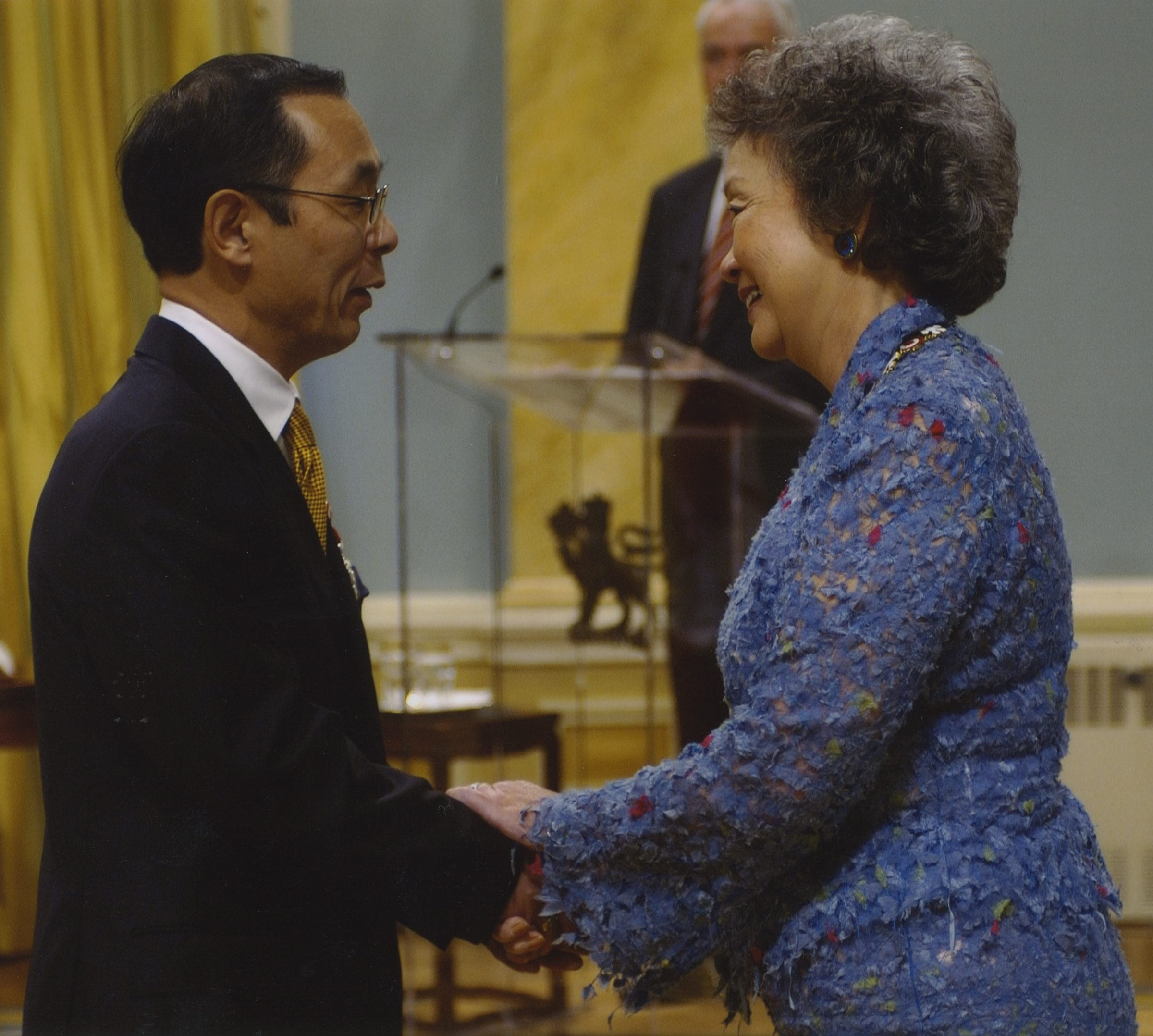 Takashi Murakami with Adrienne Clarkson