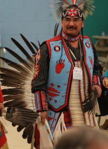 Joe Thompson at pow wow