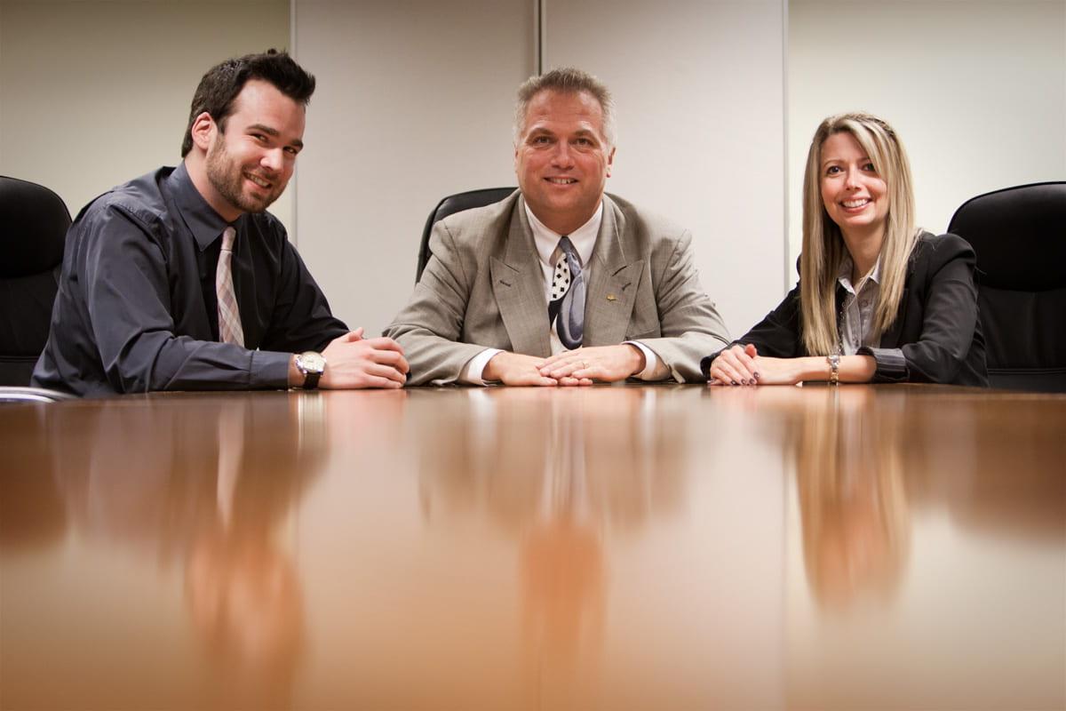 Zach Minuk, Bruce Granke and Marni Russell