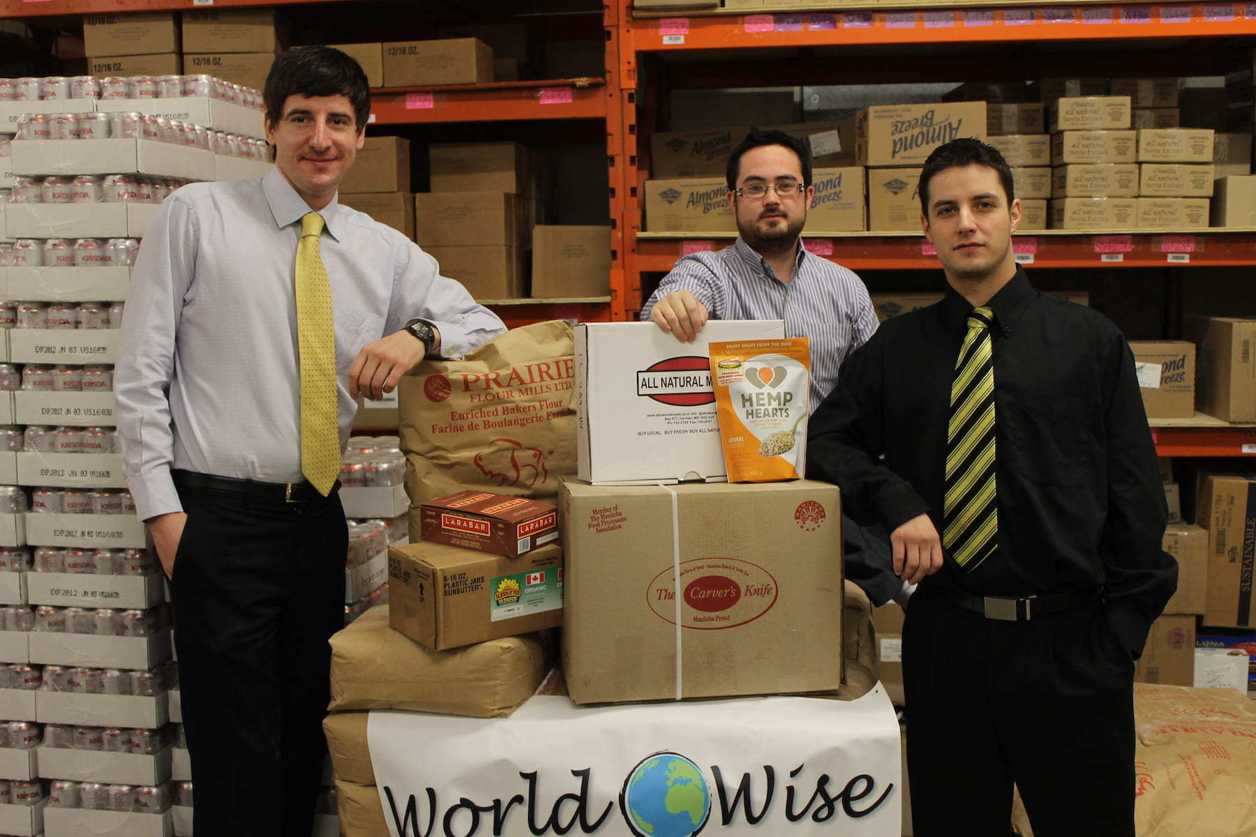 World Wise Distribution staff, in warehouse