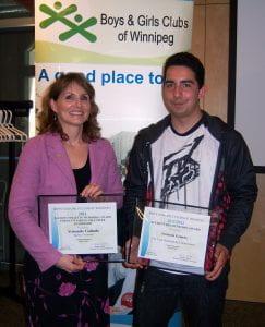 Armando Galindo accepting award