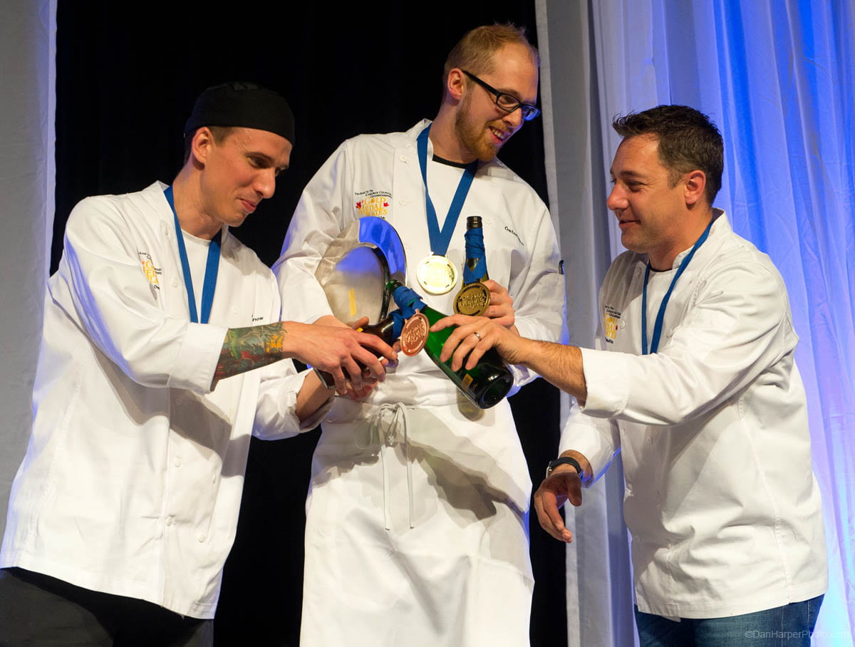 Jamie Snow, Östen Rice and Michael Shafer, 2012 Gold Medal Plates competition