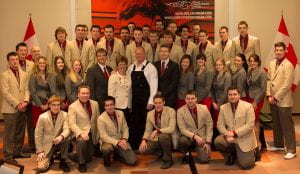 Mike Holmes with Skills Canada World Skills competitors