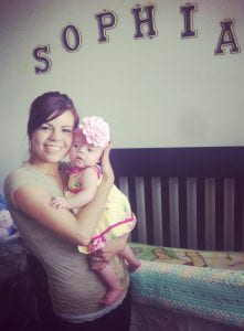 Sabrina Rogers with daughter