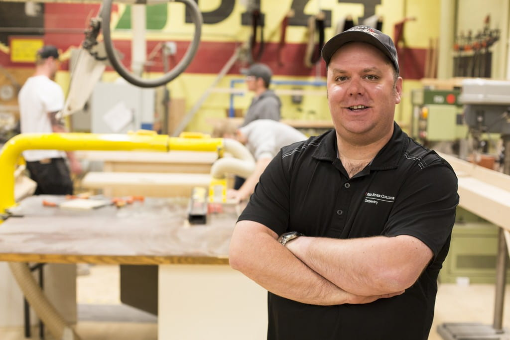 Eric Swanson in carpentry lab