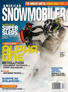 Cover of American Snowmobiler magazine, December 2018 issue