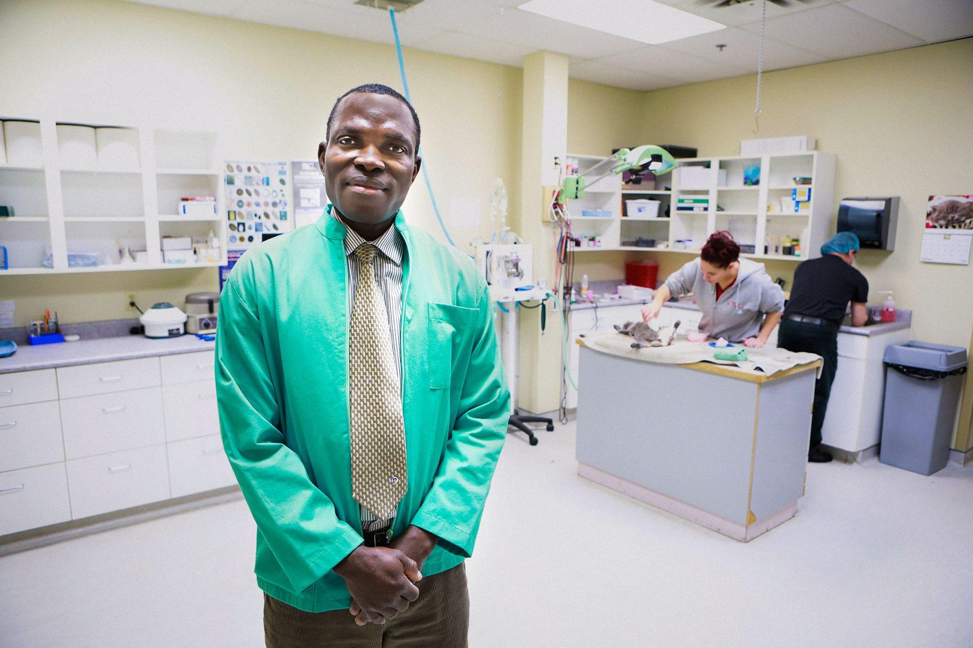 Dr. Meshack Kusa, Roblin Animal Hospital