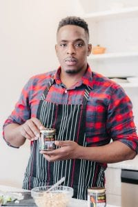 Chef Noel Cunningham with Jamaican jerk marinade