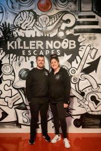 Chris McMillan and Lisa Bernstein, Killer Noob Escapes