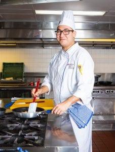 Trevor Brass cooking