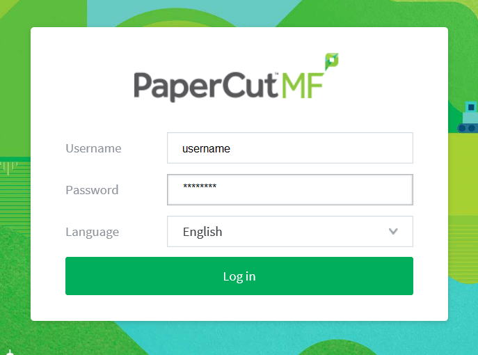 log in to PaperCut