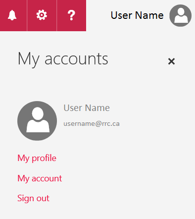 click user name and sign out