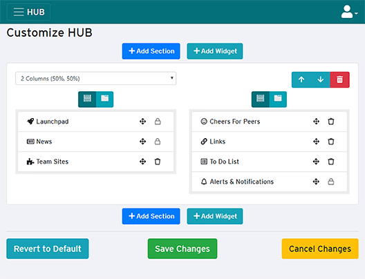 customize HUB page