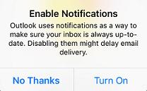 enable notifications window
