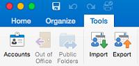 Tools tab click Accounts