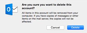 delete warning message