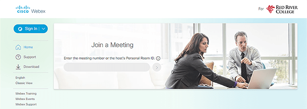 webex sign in page