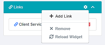 Add Link button (second link)