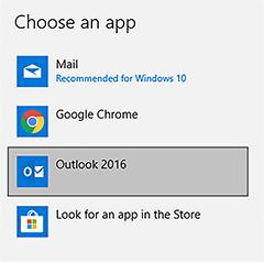 choose an app window