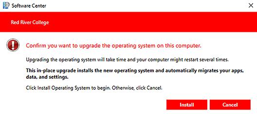 confirm install button