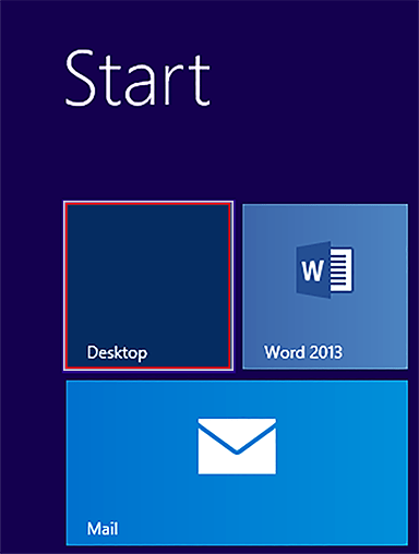 windows 8 desktop tile
