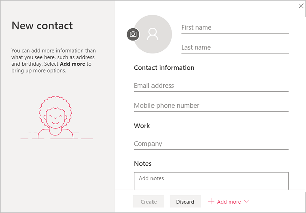 new contact info